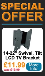 14-22 inch LCD swivel and tilt tv wall bracket